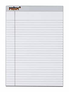 TOPS Prism Plus 100% Recycled Legal Pad, 8-1/2 x 11-3/4 Inches, Perforated, Gray, Legal/Wide Rule, 50 Sheets per Pad, 12 Pads per Pack (63160)