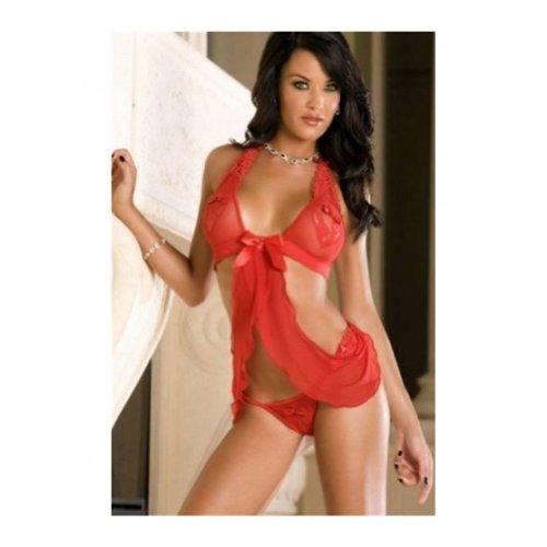 Women's Red Hot Sexy Heart Shape Babydoll Lingerie