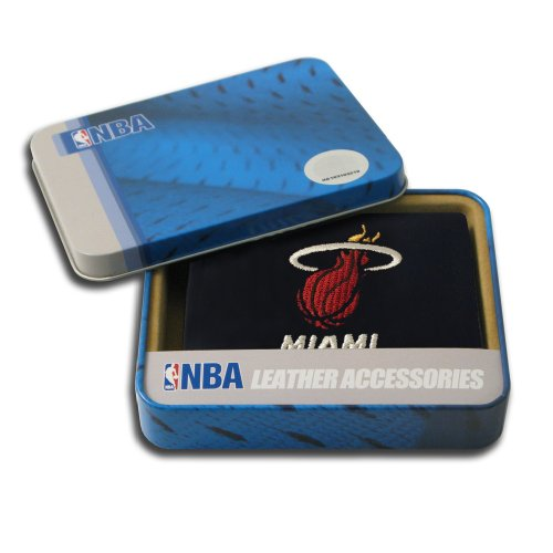NBA Miami Heat Embroidered Genuine Leather Trifold Wallet (Miami Heat Wallet compare prices)