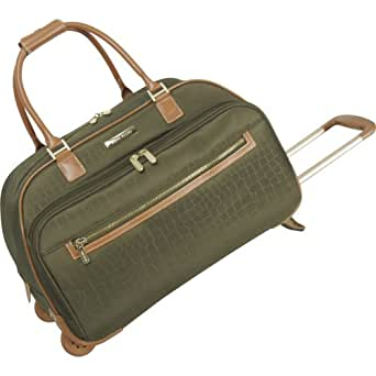 Anne Klein Luggage Jungle Wheeled Duffle Bag, Olive, One Size