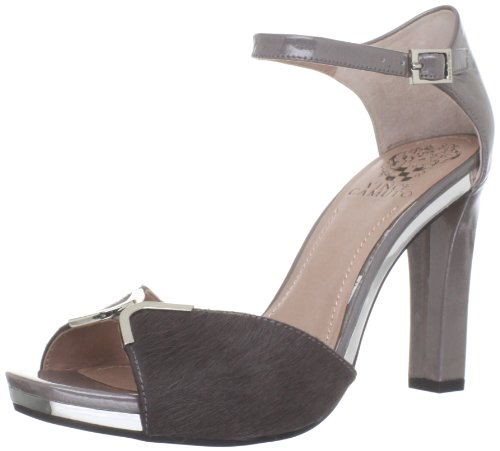 Vince Camuto Women's VC-Thane Sandal,Urban Grey/ Solid Pony/Iridescent Crinkle Patent,10 M US