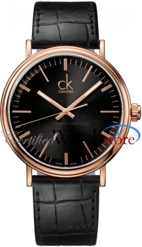 Calvin Klein K3W216C1 Watch Surround Mens - Black Dial PVD Rose Plating Case Quartz Movement