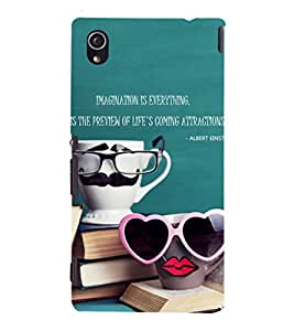 EPICCASE cup of love Mobile Back Case Cover For Sony Xperia M4 Aqua Dual (Designer Case)