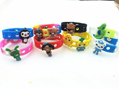 Find Cheap 18pcs the Octonauts (10 Shoe Charms + 8 Bracelet) & Wristband Toys Party Gifts