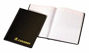 Adams Account Book, 7 x 9.25 Inches, Black, 8-Columns, 80 Pages (ARB8008M)