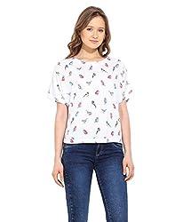 Saiesta Women's Birds Print Kimono Style Top