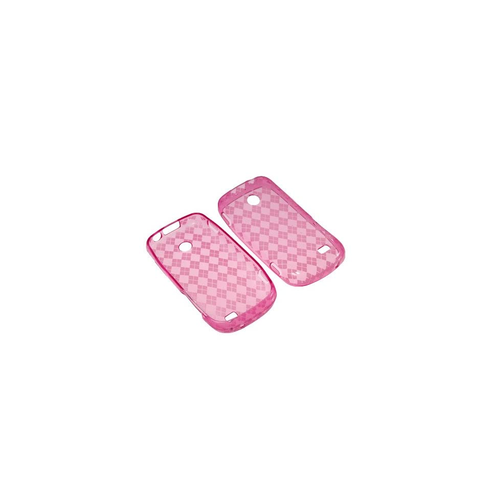 BW Soft Sleeve Gel Cover Skin Case for Tracfone, Straight Talk Samsung T528G  Pink Checker