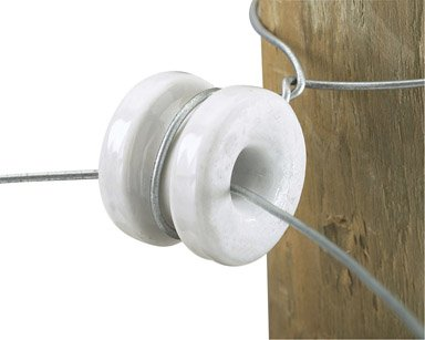 Pk/10 X 4: Dare Porcelain Electric Fence Insulator (2356-10)