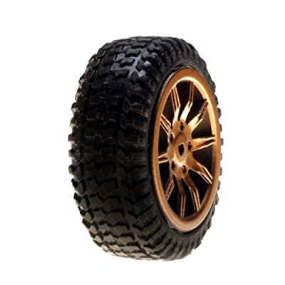 Tires, Mounted, Gold: Micro Rally(4)