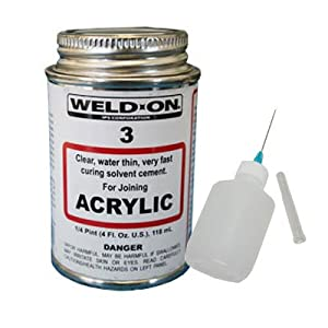 IPS Weld-On 3 Acrylic Plastic Cement with Weld-On Applicator