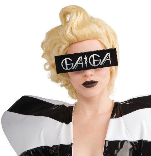 Rubie's Lady Gaga Glasses - Printed Black 9971