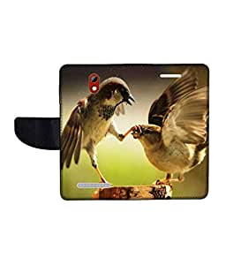 KolorEdge Printed Flip Cover For HTC Desire 500 Multicolor - (45KeMLogo09627HTC500)