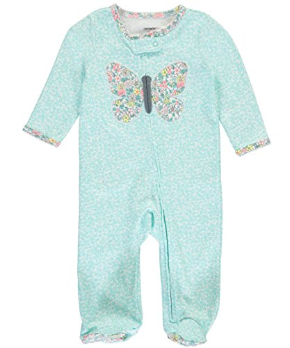 carters-baby-girls-floral-butterfly-split-footed-coverall-turquoise-newborn