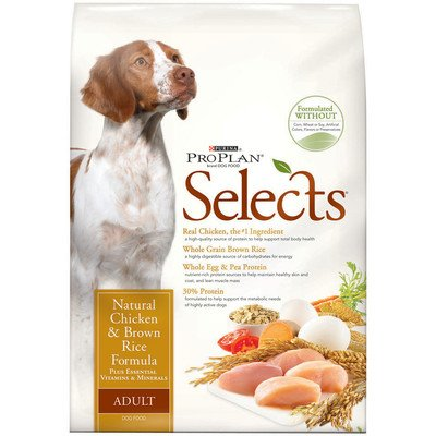 Selects Chicken And Brown Rice Dry Dog Food Size: 33-Lb Bag