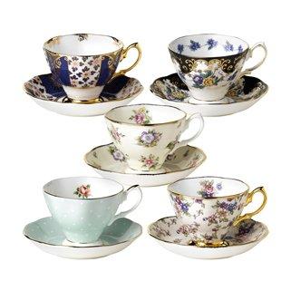 101 Years - 1900-1940 - 10-piece Teacup & Saucer Set