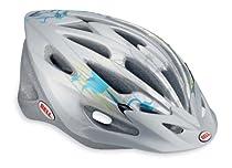 Bell Venture Bike Helmet, Silver/Aqua Blue Flowers