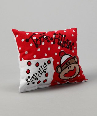 Bunnies and Bows - Sock Monkey Tooth Fairy Pillow - Personalized Pillowcase