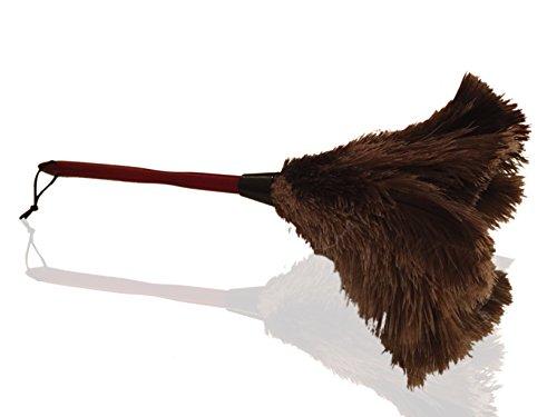 50cm Piumino in piume di struzzo - Attira le particelle di polvere - Spesse e morbide piume e manico in legno resistente ed ergonomico - Pulizia e spolvero facile ed efficace