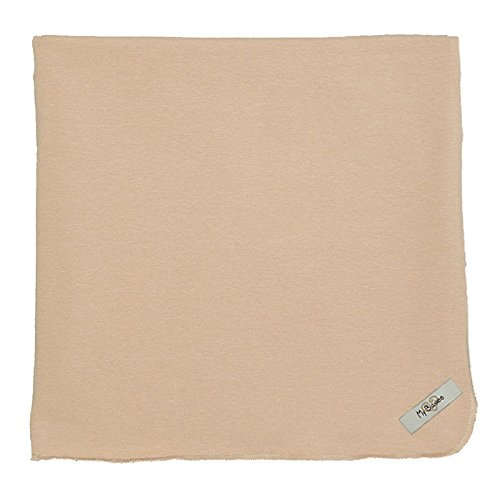 "My Blankee Organic Cotton  Jersey Knit Swaddle Baby Blanket, 47"" X 47"", Latte"