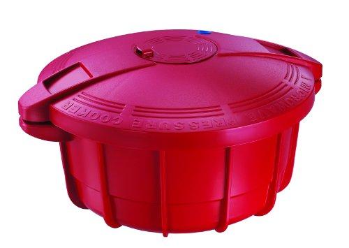 Prestige Microchef 4-Liter Microwave Pressure Cooker, Red