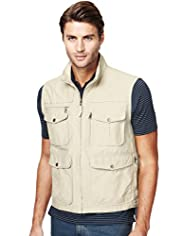 Cotton Rich Funnel Neck Trekking Gilet