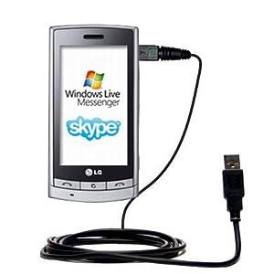Un câble USB Charge/HotSync lisse pour le LG GT405