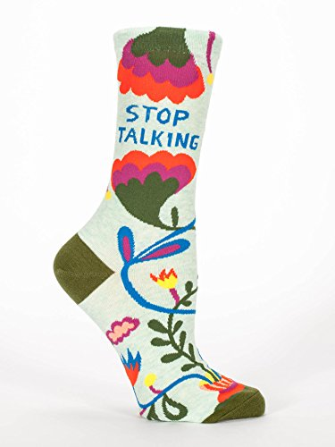 blue-q-socks-womens-crew-stop-talking