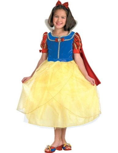 girls - Snow White Deluxe 7 To 8 Halloween Costume - Child 7-8