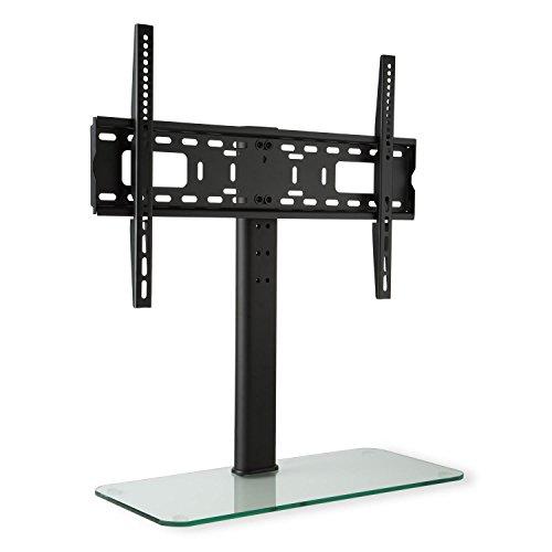 auna tv st nder fernsehst nder fernsehtisch mit glas standfu 23 55 zoll h he 76 cm. Black Bedroom Furniture Sets. Home Design Ideas