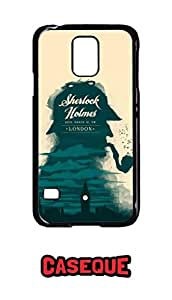 Caseque Sherlock Holmes Back Shell Case Cover for Samsung Galaxy S5