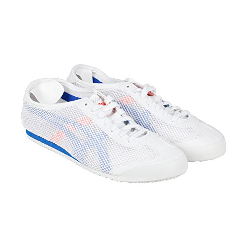 Onitsuka Tiger Mexico 66 Fashion Sneaker, White/Strong Blue, 10 M Men's US/11.5 Women's M US