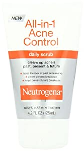 Neutrogena All-in-1 Acne Control Daily Scrub, 4.2 Ounce (Pack of 2)