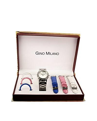 GINO MILANO Reloj de cuarzo + Set x 3 Correas intercambiables MWF14-021A 26 mm