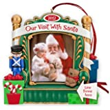 Our Visit With Santa Photo Holder 2012 Hallmark Christmas Ornament