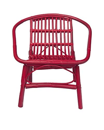 Mili Designs Indoor/Outdoor Rattan Chairs, Red As You See