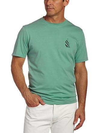 (疯抢)诺帝卡Nautica Men's Pacific Sailing Club Tee, Fin Green纯棉T恤$19.36