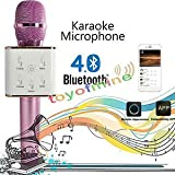 JT Karaoke Microphone Wireless, Portable Handheld Singing Machine Condenser Microphones Mic And Bluetooth Speaker...
