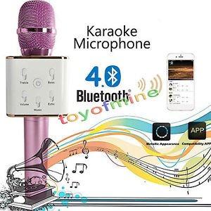 JT Karaoke Microphone Wireless, Portable Handheld Singing Machine Condenser Microphones Mic And Bluetooth Speaker...