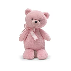 """Gund Tilley Pink Bear 9"""" Plush with Chime"""