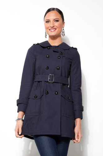 Coach Navy Blue Great American Trench Coat 80647NAV-6