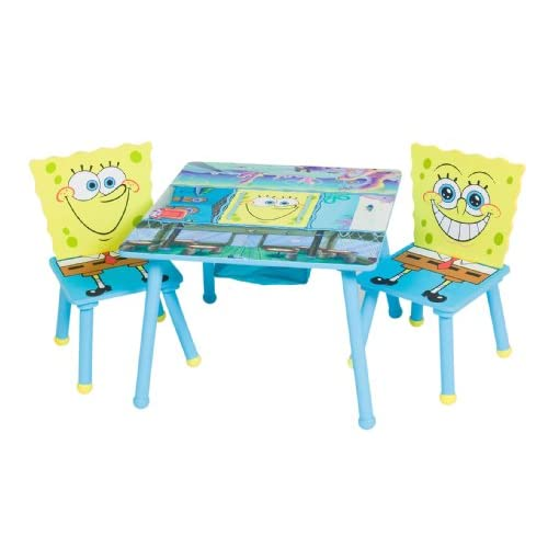 Nickelodeon Spongebob Square Storage Table And Chair With