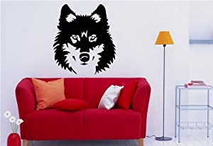 Wall Mural Vinyl Decal Stickers Animals Wolf S1141