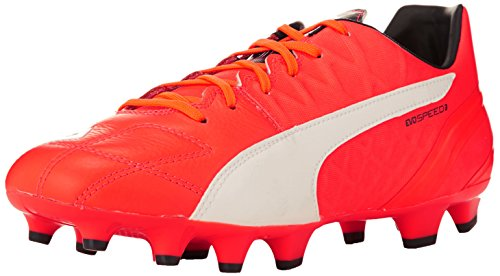 Puma - Evospeed 3.4 Lth Fg, Scarpe Da Calcio da uomo, Arancione (Orange (lava blast-white-total eclipse 01)), 42