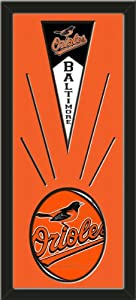Baltimore Orioles Wool Felt Mini Pennant & Baltimore Orioles Team Logo Photo -... by Art and More, Davenport, IA