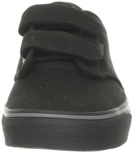 velcro vans kids black