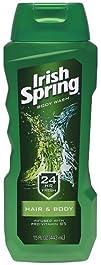 Irish Spring Hair   Bodywash 15-Ounce Bottles Pack of 6