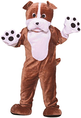 Forum Novelties Men's Bull Dog Mascot Plush Costume Team Doggy Animal Halloween
