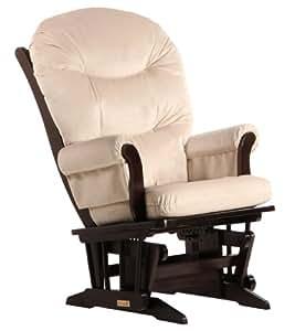 Dutailier Round Back Cushion Sleigh Glider, Beige Microfiber