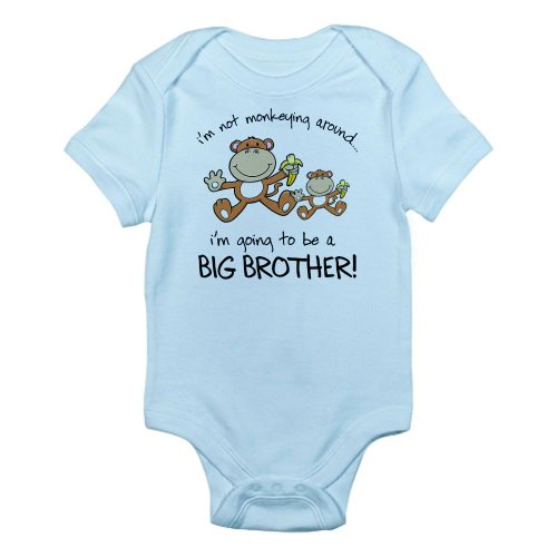 CafePress - big brother t-shirts monkey Infant Bodysuit - Cute Infant Bodysuit Baby Romper (Future Big Brother compare prices)