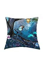 ARTE E TESSUTI by MANIFATTURE COTONIERE Cojín Con Relleno Extraíble Dreamland Azul/Multicolor